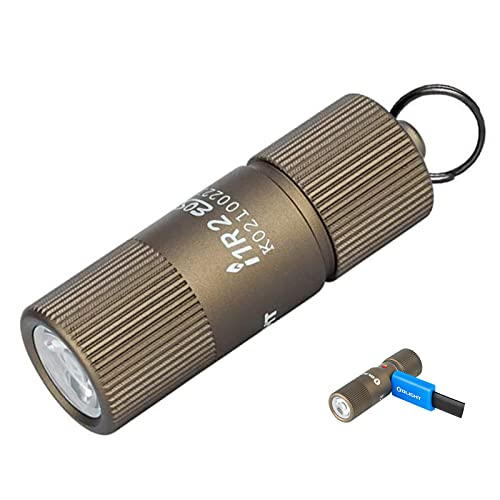 Olight I1R 2 EOS Linternas llavero LED 150 Lúmen, linterna Pequeño EDC, Lámpara Portátil Linterna USB Recargable Impermeable, con Cable de Carga Micro USB (Desert Tan)