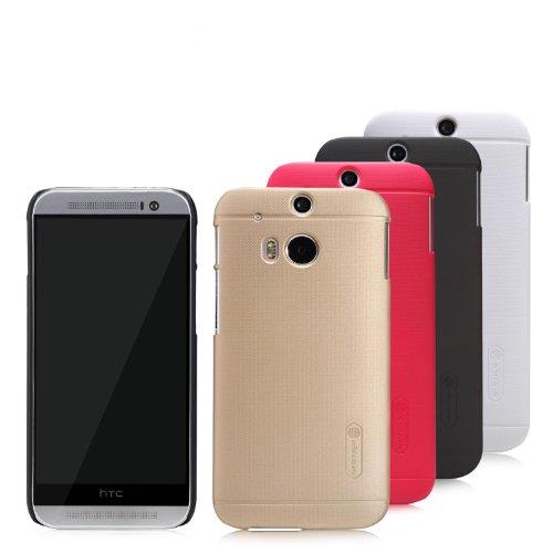 Dolextech Custodia Guscio di Protezione di Alta qualità per HTC One 2 M8 (2014 Edtion) 100% NILLKIN Back Cover(Marrone)
