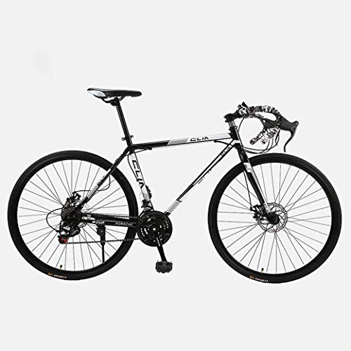 Bicicleta de carretera, 26 pulgadas, bicicletas de 21 velocidades, freno de doble disco, cuadro de acero con alto contenido de carbono, carreras de bicicletas de carretera, hombres y mujeres adultos