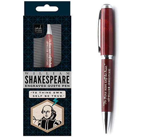 William Shakespeare Engraved Quote Pen