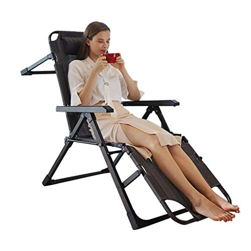 Relaxing Chair Zero Gravity Chair Recliner Folding Patio Lounge Chair Capacity,Adjustable Lawn Chair with Headrest for Outdoor, Camping, Patio, Lawn 330lbs HAIKE (Color : D)