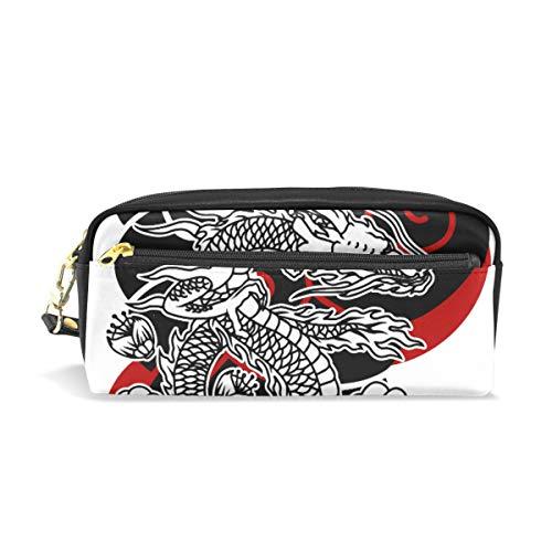 Japanse Draak Tattoo Potlood Case Pen Box Buidelzak School briefpapier benodigdheden Reizen Cosmetische Make-up Tas