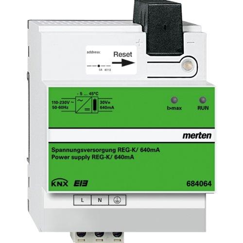 Merten 684064 KNX Spannungsversorgung REG-K/640 mA, lichtgrau