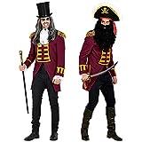 WIDMANN Widmann-49603 49603 – Uniforme de garde rojo vino para hombre, parade, chaqueta, abrigo, director de circo, disfraz, carnaval, fiesta temática, multicolor, large