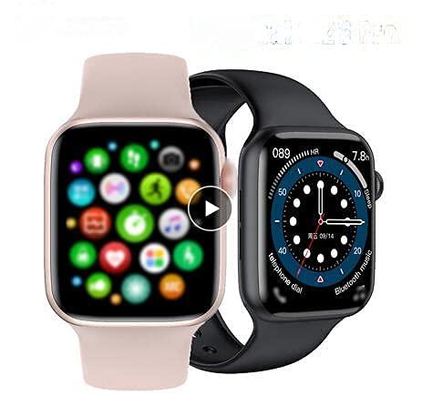 IWO W26+ Smart Watch 1.75 Pulgadas 320* 385 Serie 6 IPS Pantalla táctil completa Smartwatch Hombres Mujeres Bluetooth Call Upgrade (Blanco)