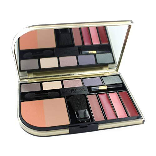 L'Oréal Paris Beauté Fard à Paupières Rougeur & Rouge à Lèvres Palette Mettant en Vedette 5 Yeux Ombres, 4 Rouges à Lèvres, 1 Double Blusher. A Complet Visage de Maquillage en un Lieu