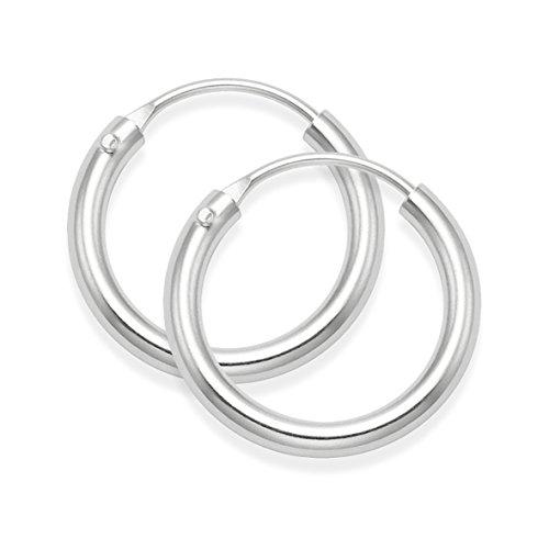 Boucles d'oreilles créoles épaisses en argent sterling, dimensions18 x 2,5mm, produit de qualité supérieure.Référence 6274