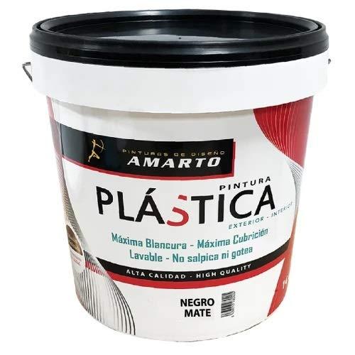 Pintura Plastica Negro Mate (750 ML.)