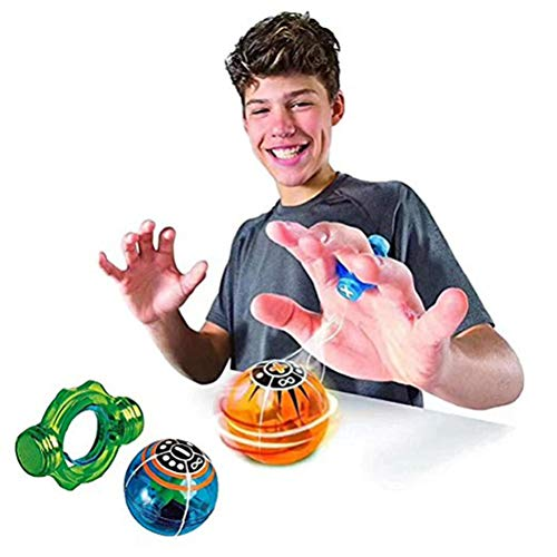 FuYouTa Finger Magic Magnetic Ball, 1 PCS Induction Ball Dazzling Light Toys - Finger Ball Colorful Magnetic Toys Controlled Finger Induction With Power Ring Toys for Children Ramdom Color