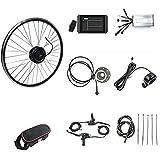 SKYWPOJU Kit de conversión de Bicicleta eléctrica de 48V 1000 W, Controlador de Rueda Trasera 700C, Kit de conversión de Bicicleta eléctrica con Motor sin escobillas de Control de Cubo