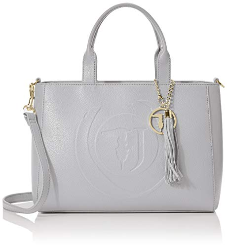 Trussardi Jeans Faith Shopper Md Tumbled Ecole, Borsa a mano Donna,...