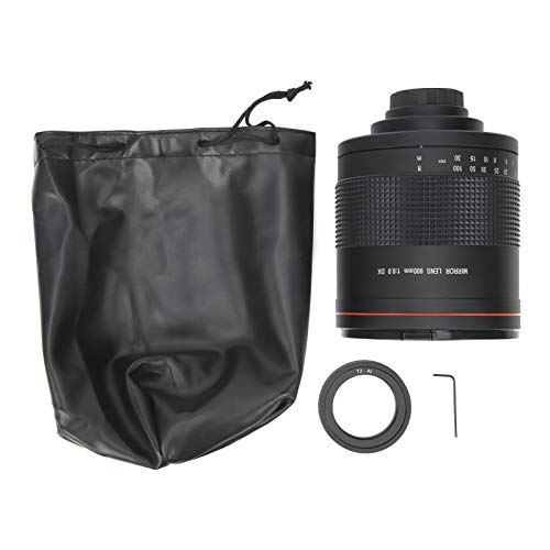 Sxhlseller Lente de Espejo telefoto, Lente de cámara de Espejo súper telefoto portátil de 900 mm F8.0 para Montaje AI para cámara Nikon SLR