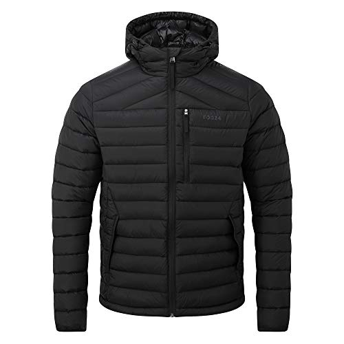 TOG24 Base Mens Packable Hooded Down Jacket, Lightweight Ultra Warm 800 Fill Power 90% Duck Down and 10% Feathers, Soft Comfortable Casual Padded Stylish Coat, Perfect for Travel Camping Day Hikes