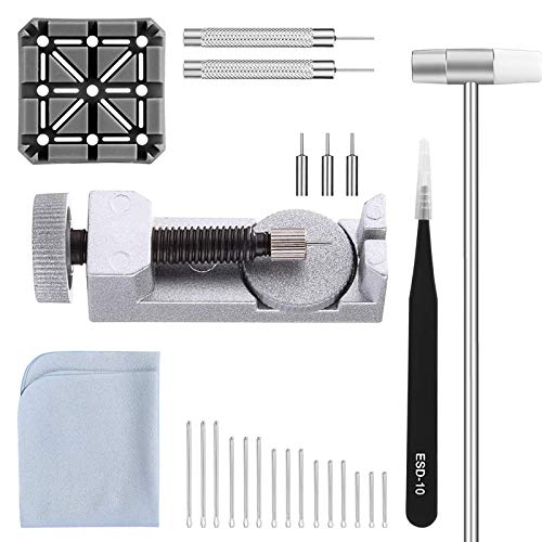 Kuinayouyi Kit 26 en 1 de herramientas de reparación para correa de reloj