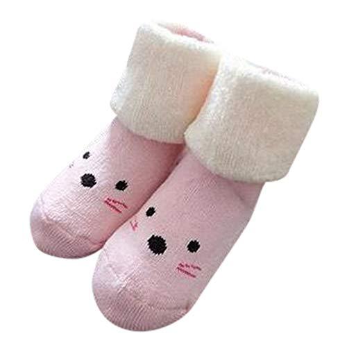 Sensail 0-24mois Bébé chaussettes enfants de dessins animés tricoté terry slip chaussettes chaussettes de sol bébé automne et hiver épais chaussettes confortables