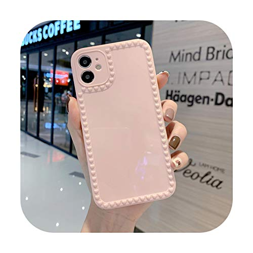 Schöne Kameraschutzhülle für iPhone 11 Pro Max 12 Mini 7 8 Plus XS Max X XR 12 Pro SE 2020 Candy Farbe Bumper Shell Pink für iPhone 12 Mini