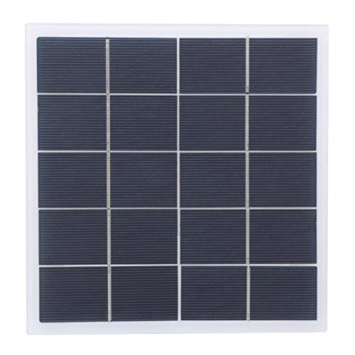 FOLOSAFENAR Cargador de energía Solar Módulo de Panel de célula Solar Cargador 4W 5V Portátil para Luces publicitarias para semáforos, Ventiladores eléctricos