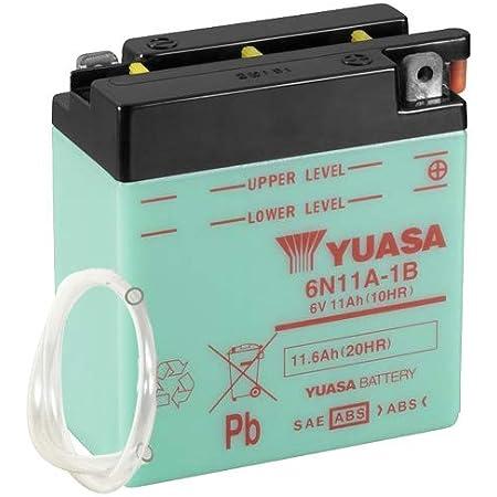 Batterie Yuasa 6n11a 1b 6v 11ah Maße 122x62x131 Auto