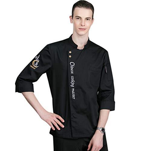 Dooxii Unisex Donna Uomo Autunno Manica Lunga Giacca da Chef Professionale Ristorante Occidentale Mensa Hotel Uniformi Divise da Cuoco
