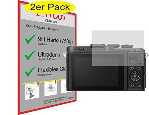 EnWi | 2X Panzer-Glas-Folie 9H Bildschirm-Schutz-Folie für Olympus Pen E-PL10
