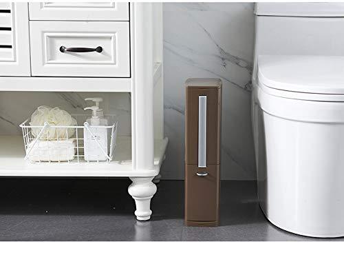 ZHNINGUR Escobilla de baño Baño de Basura de residuos Bolsa Cubo de múltiples Funciones Bote de Basura Suministros for Baños Productos for el Hogar (Color : Café, Size : Gratis)
