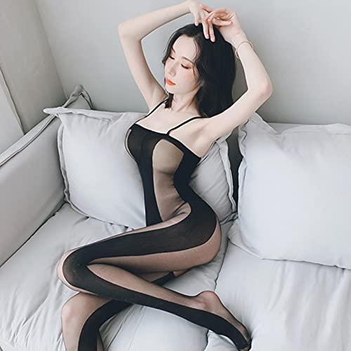 u/b Sexy fishnet medias bodysuit mujeres ver a través abierto C medias de...