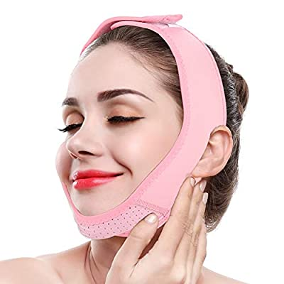 Facial Slimming Mask, Ultra-Thin V Face Lifter Strap Chin Slimmer Belt Slimming Bandages Facial Double Chin Care Weight Loss Face Belts for Women Men Round Face by Dioche