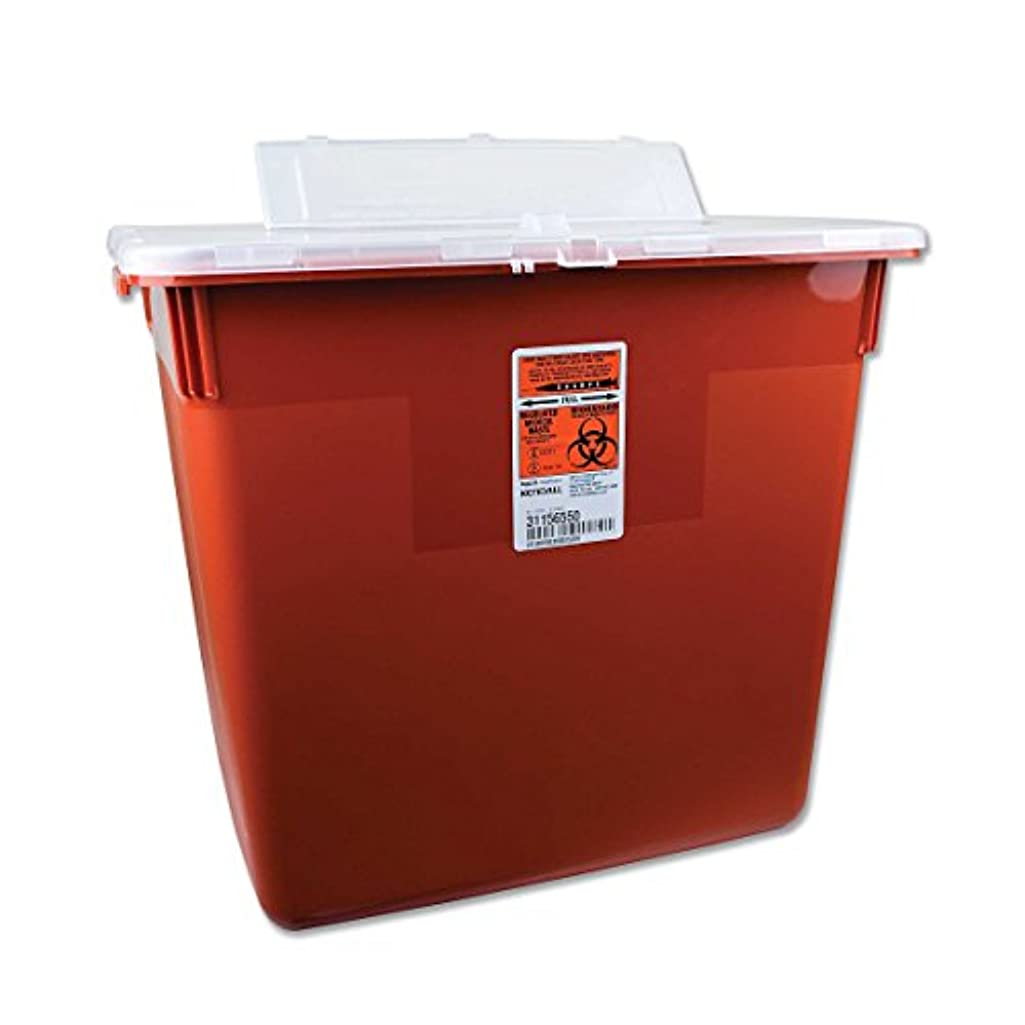 Sharps Collection Containers - 5 Gallon, lid Opening 4