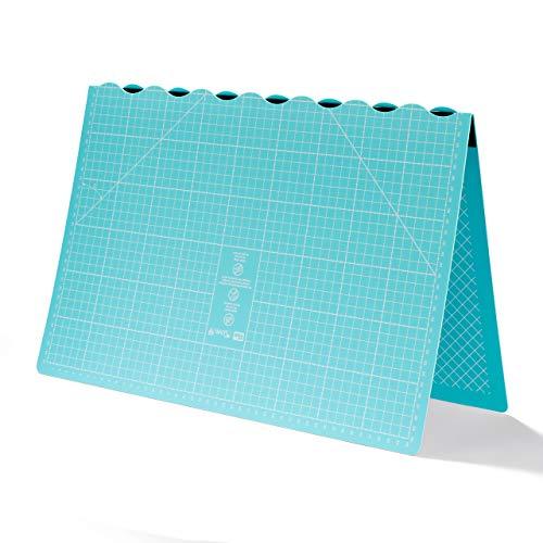 Prym Love-Tappetino da Taglio Pieghevole, 45 x 60 cm, Materiale Sintetico, Turchese, 48.5 x 32.200000000000003 x 1.2 cm