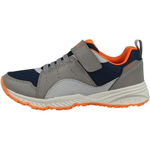 Geox Zapatillas deportivas Bernie para niños, plantilla suelta, color Gris, talla 31 EU
