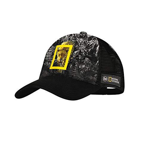 Buff Howey Gorra Trucker National Geographic, Adultos Unisex, Negro, L XL