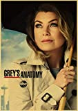 Canvas Poster Greys Anatomy Poster Classic Hot Tv Retro