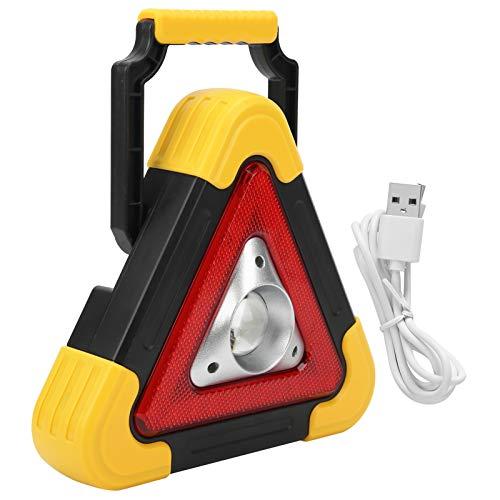 Lámpara triangular de advertencia, práctica lámpara de advertencia de emergencia anti-caída, para camión