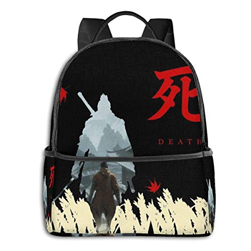 IUBBKI Sekiro Shadows Die Twice Student School Bag School Cycling Leisure Travel Camping Outdoor Backpack