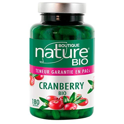Boutique Nature - Complément Alimentaire - Cranberry BIO - 180 Gélules Végétales - Bien être urinaire féminin - Format ECO