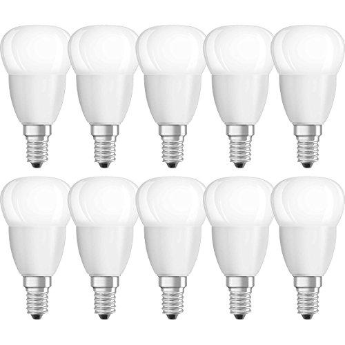 NEOLUX - Lot de 10 Ampoules LED - Forme Sphérique Dépolie - Culot E14 - 3,3W Equivalent 25W - Blanc Chaud 2700K