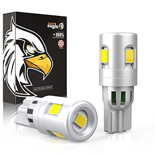 EASY EAGLE Super Bright 194 168 2825 W5W T10 LED Bulbs w/30MM Short Size Replacement for Car Interior Dome Map Door Courtesy License Plate Lights, 6000K Xenon White