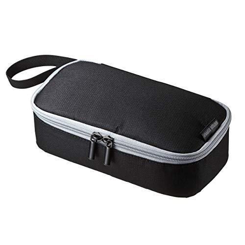 サンワサプライ トラベル小物ポーチ 6ポケット (モバイルバッテリー・充電器・ACアダプタ・マウス等向け) IN-AD6BK