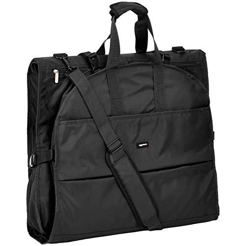 AmazonBasics - Hochwertige Kleidertasche, dreifach faltbar, Schwarz, 1,67m