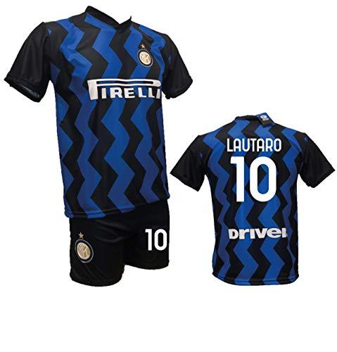DND Di D'Andolfo Ciro Completo Maglia Lautaro Inter e Pantaloncino con Numero 10 Personalizzabile Replica autorizzata 2020-2021 Taglie da Bambino e Adulto (10 Anni)