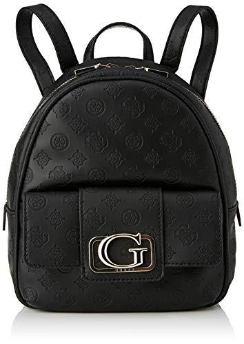 Guess Emilia Small Backpack, bolsos para Mujer, negro, Talla única