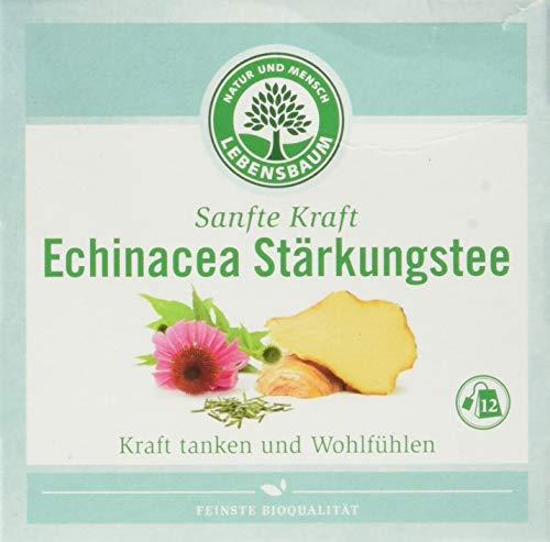 Lebensbaum Sanfte Kraft Kräutertees Im Teebeutel - Einzeln Kuvertiert - Echinacea Stärkung, 24 g