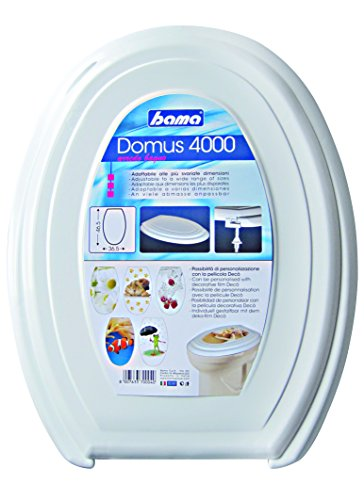 Bama BAM342 toiletbril, van kunsthars, wit, 36,5 x 46,5 x 5h