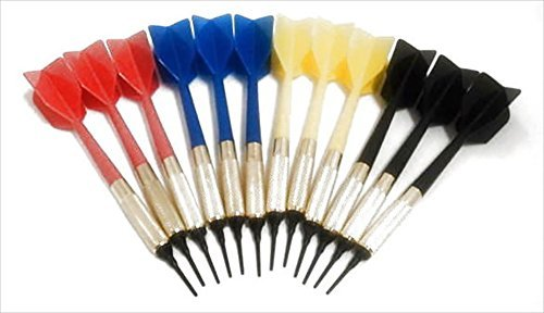 GLD Commercial Soft Tip Bar Darts-Set of 12 with 250 Dart Tips by GLD