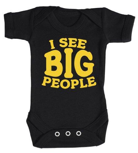 Baby Buddha - I See Big People Body bébé/Barboteuses bébé 3-6 Mois Noir