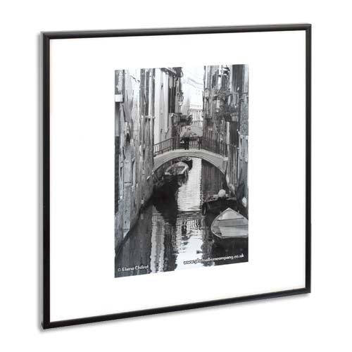 Het fotoalbum bedrijf PAAF4050B-BLK Luxe Zwart Satijn Aluminium Frame - 40X50