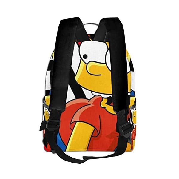 41ephf2srSL. SS600  - Cartoon Simpsons - Mochila para estudiantes, unisex, diseño de dibujos animados, 14,5 x 30,5 x 12,7 cm