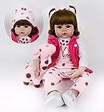 HRYEOY Reborn Poupée 24 Pouces 60cm Réaliste bébé poupée Fille 3 Ans Silicone Simulation Nouveau-Né Jouet Réalité Fait Main Cadeaux d'anniversaire Reborn Dolls