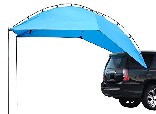 Leader Accessories Easy Set Up Camping SUV Tent/Awning/Canopy/Sun Shelter Tailgate Tent Beach Tent Waterproof Suitable for SUV Mini Van Campers RVs