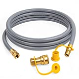 GASPRO 3/8-Inch Natural Gas Quick Connect Hose, Propane to Natural Gas Conversion Kit for Grill, Smoker, Fire Pit, Patio Heater and More, 12-Foot